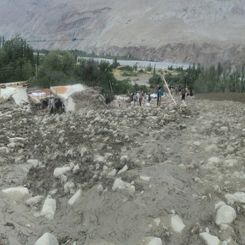 A new wave of avalanches destroys the Talis Village during the final stage of the reconstruction process following the floods of last summer