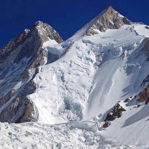 Closer to the Gasherbrum II summit.