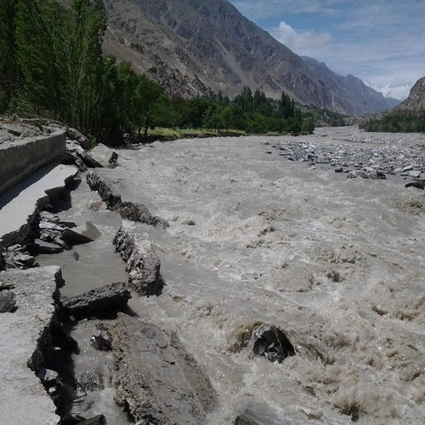 Floods in Hushe valley